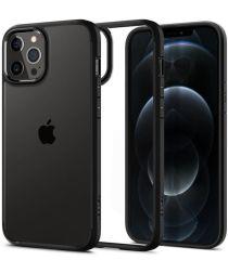 Spigen Crystal Hybrid Apple iPhone 12 / 12 Pro Hoesje Zwart