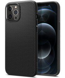 Spigen Liquid Air Apple iPhone 12 Pro Max Hoesje Zwart