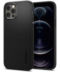 Spigen Thin Fit Apple iPhone 12 / 12 Pro Hoesje Zwart