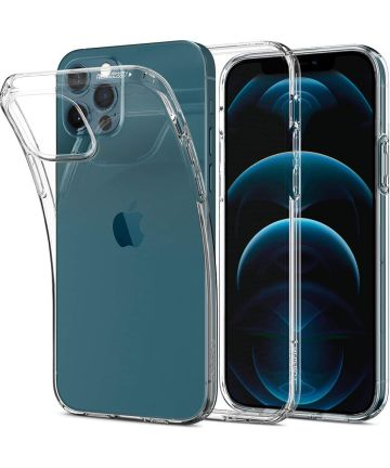 Spigen Liquid Crystal iPhone 12 / 12 Pro Hoesje Transparant Hoesjes