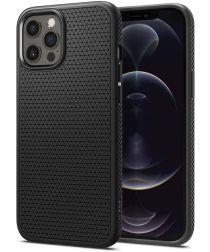 Spigen Liquid Air Apple iPhone 12 / 12 Pro Flexibel Hoesje Mat Zwart