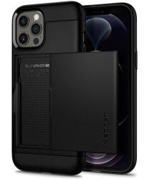 Spigen Slim Armor CS Apple iPhone 12 / 12 Pro Hoesje Zwart