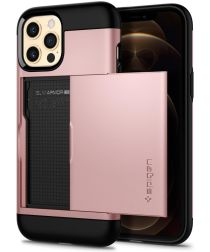 Spigen Slim Armor CS Apple iPhone 12 / 12 Pro Hoesje Roze Goud