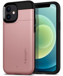 Spigen Slim Armor CS Apple iPhone 12 Mini Hoesje Roze Goud