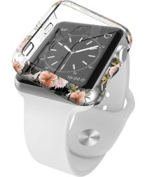 Raptic Revel Apple Watch 38MM Hoesje Hard Plastic Bumper Bloem Print