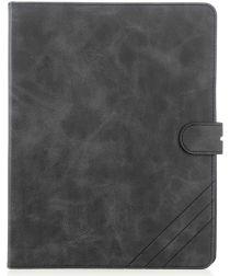 Apple iPad 2/3/4 Portemonnee Tri-fold Hoes Zwart met Standfunctie