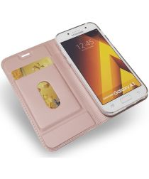 Samsung Galaxy A3 (2017) Portemonnee Bookcase Hoesje Rose Gold