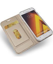 Samsung Galaxy A3 (2017) Portemonnee Bookcase Hoesje Goud