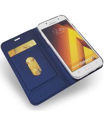 Samsung Galaxy A3 (2017) Portemonnee Bookcase Hoesje Donker Blauw
