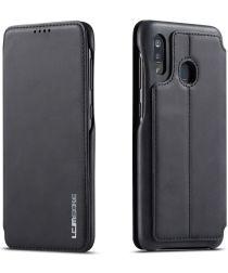 LC.IMEEKE Samsung Galaxy A20e Portemonnee Hoesje Kunstleer Zwart