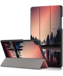 Samsung Galaxy Tab A7 (2020) Tri-Fold Hoes met Bomen Print