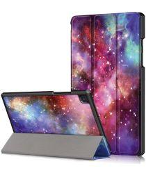 Samsung Galaxy Tab A7 (2020) Tri-Fold Hoes met Galaxy Print