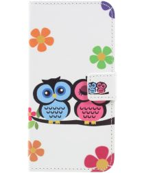 Samsung Galaxy A3 (2017) Portemonnee Hoesje met Uilen Print