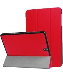 Samsung Galaxy Tab S3 Hoes Tri-Fold Book Case Rood