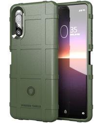 Sony Xperia 10 II Hoesje Shock Proof Rugged Shield Groen