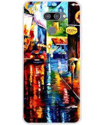 LG K50 Hoesje TPU Back Cover met Straat Print