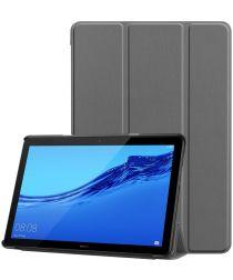 Huawei MediaPad T5 Hoes Tri-fold Book Case Grijs