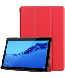 Huawei MediaPad T5 Hoes Tri-fold Book Case Rood