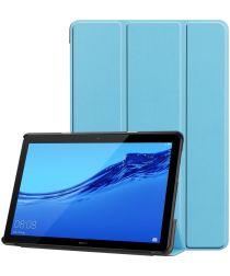 Huawei MediaPad T5 Hoes Tri-fold Book Case Baby Blauw