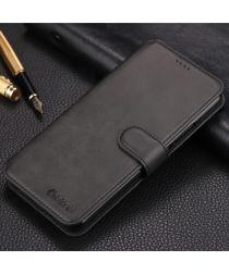 AZNS Huawei Mate 20 Lite Portemonnee Hoesje Zwart Kunstleer