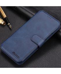 AZNS Huawei Mate 20 Lite Portemonnee Hoesje Blauw Kunstleer