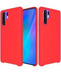 Huawei P30 Pro Siliconen Hoesje Rood