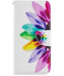 Huawei Y6 2019 / Y6s Book Case Hoesje Bloem Print