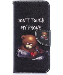 Huawei Y6 2019 / Y6s Book Case Hoesje Don't Touch My Phone Print