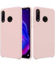 Huawei P30 Lite Siliconen Back Cover Hoesje Roze