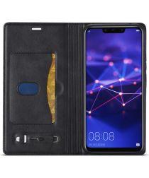 LC.IMEEKE Huawei Mate 20 Lite Retro Portemonnee Hoesje Kunstleer Zwart