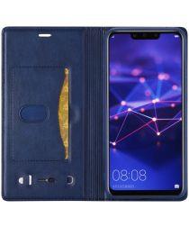 LC.IMEEKE Huawei Mate 20 Lite Retro Portemonnee Hoesje Kunstleer Blauw