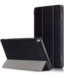 Lenovo Tab 4 10 Plus Tri-Fold Flip Case Zwart