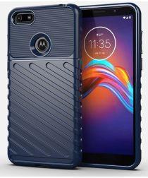 Motorola Moto E6 Play Twill Thunder Texture Back Cover Blauw