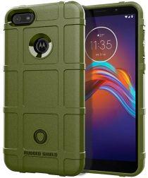 Motorola Moto E6 Play Hoesje Shock Proof Rugged Shield Groen