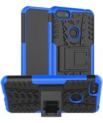 Motorola Moto E6 Play Hoesje Shockproof Hybride Kickstand Blauw
