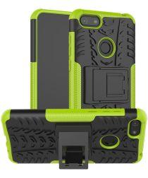 Motorola Moto E6 Play Hoesje Shockproof Hybride Kickstand Groen