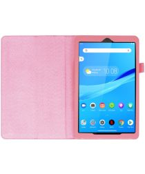 Lenovo Tab M8 Litchi Skin Two-Fold Book Case Hoes Roze