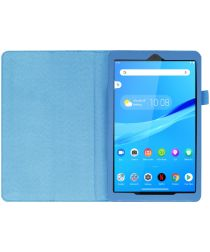 Lenovo Tab M8 Litchi Skin Two-Fold Book Case Hoes Blauw
