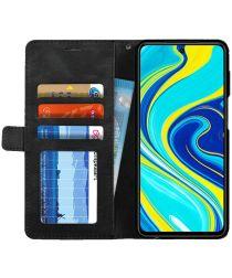 Xiaomi Redmi Note 9S / Note 9 Pro Hoesje Geometrie Portemonnee Zwart