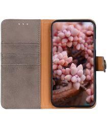 Xiaomi Redmi 9A Hoesje Vintage Wallet Grijs