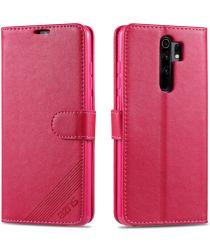 AZNS Xiaomi Redmi 9 Portemonnee Stand Hoesje Roze
