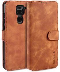 DG Ming Retro Portemonnee Xiaomi Redmi Note 9 Hoesje Bruin