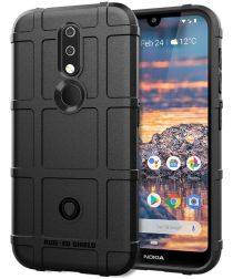 Nokia 4.2 Hoesje Shock Proof Rugged Shield Zwart