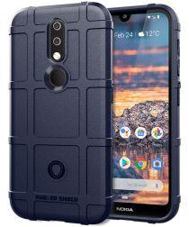 Nokia 4.2 Hoesje Shock Proof Rugged Shield Blauw