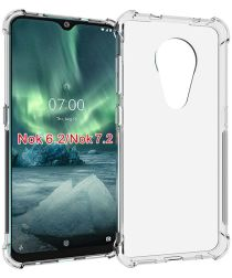 Nokia 6.2 / 7.2 Hoesje Schokbestendig en Dun TPU Transparant