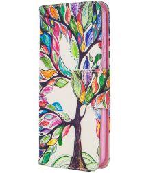 Nokia 1.3 Portemonnee Hoesje met Tree Print