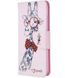 Nokia 1.3 Portemonnee Hoesje met Giraffe Print