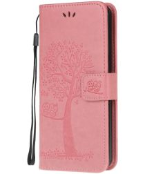 Nokia 2.3 Portemonnee Hoesje met Boom Print Roze