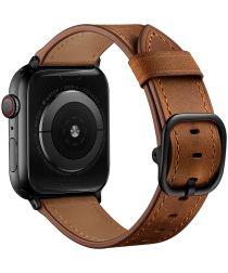 Apple Watch 40MM / 38MM Bandje Leer met Modieuze Gespsluiting Bruin