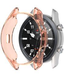 Samsung Galaxy Watch 3 45MM Hoesje Flexibel TPU Bumper Oranje